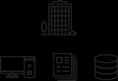 PC・紙を含めた業務データ