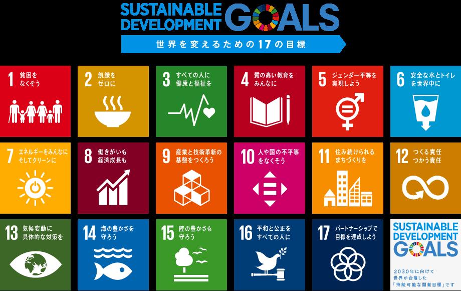 SDGsの実現に向けて取り組んでいます